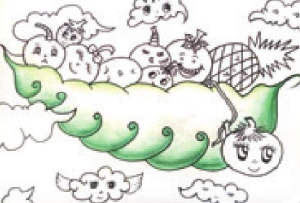 水果宝宝彩铅笔画绘画步骤(2)