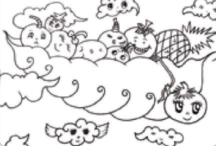水果宝宝彩铅笔画绘画步骤(1)