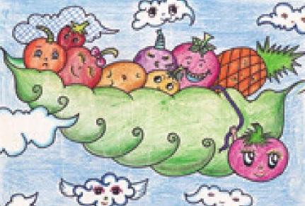 水果宝宝彩铅笔画绘画步骤(5)