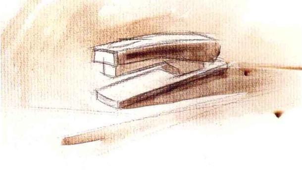 订书机水粉画怎么画(2)