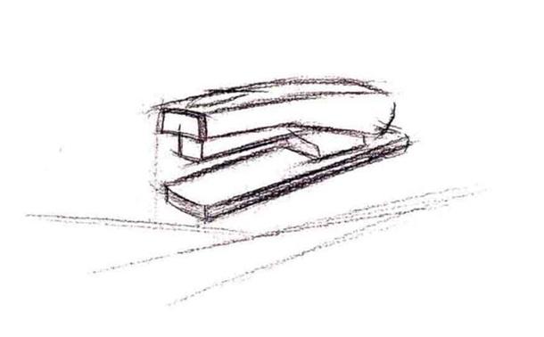 订书机水粉画怎么画(1)