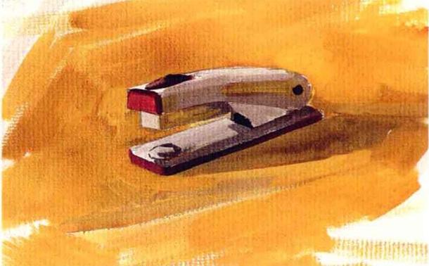 订书机水粉画怎么画(4)