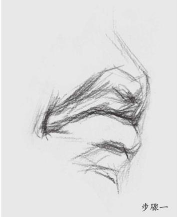素描嘴巴怎么画(1)