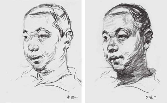 素描头像的明暗画法(一和二)