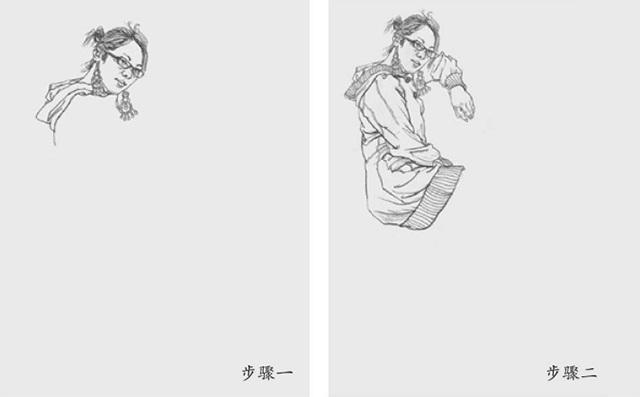 坐姿女速写怎么画(1)