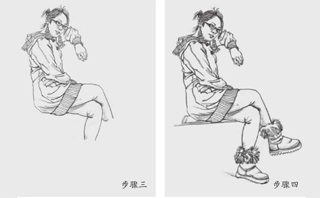 坐姿女速写怎么画(2)