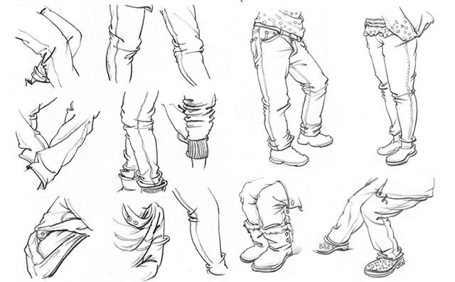 衣纹速写的画法(1)