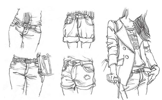 衣纹速写的画法(2)
