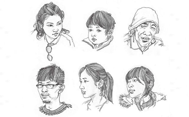 不同年龄段头部速写的刻画要点(2)