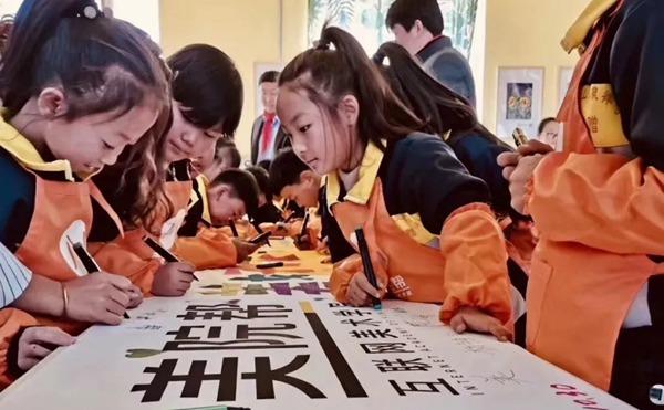 烧锅营子学校的学生