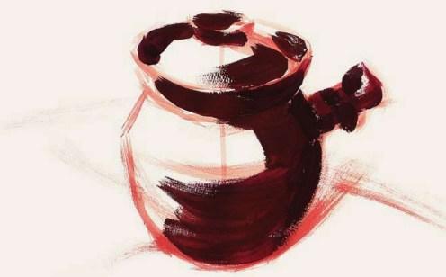 带手柄的陶罐的表现技法解析(2)