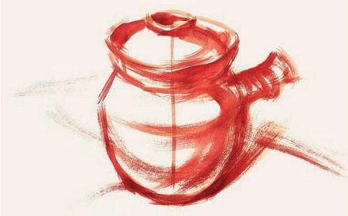 带手柄的陶罐的表现技法解析(1)