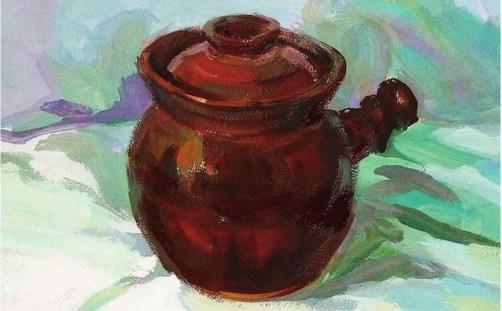 带手柄的陶罐的表现技法解析(6)