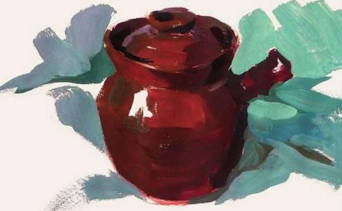 带手柄的陶罐的表现技法解析(5)