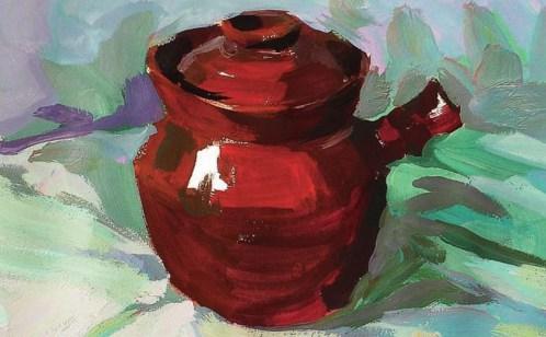 带手柄的陶罐的表现技法解析(8)