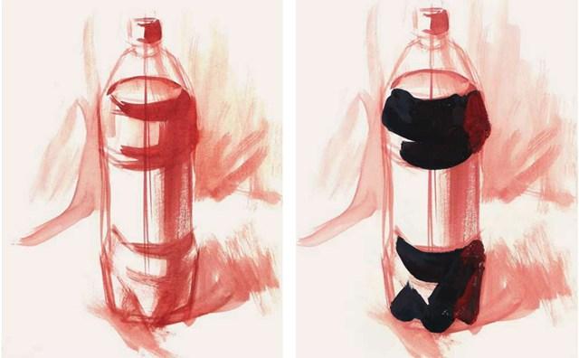 色彩可乐瓶的衣现技法解析步骤(1)