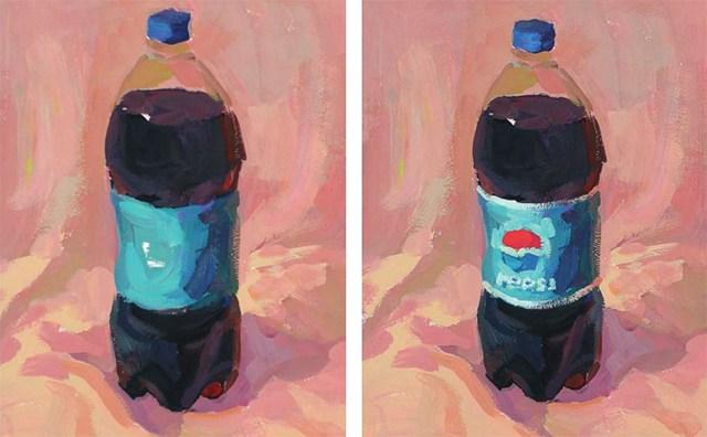色彩可乐瓶的衣现技法解析步骤(4)