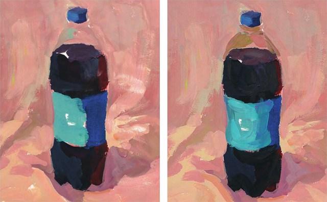 色彩可乐瓶的衣现技法解析步骤(3)
