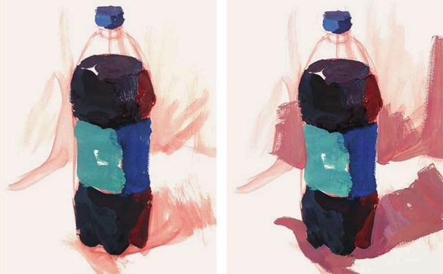 色彩可乐瓶的衣现技法解析步骤(2)