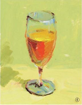 色彩高脚杯的画法(4)