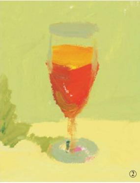 色彩高脚杯的画法(2)
