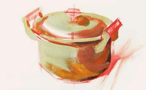 色彩铝锅的衣现技法解析(3)