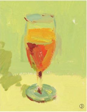 色彩高脚杯的画法(3)