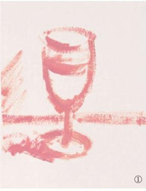 色彩高脚杯的画法(1)