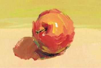 色彩红苹果的画法(4)