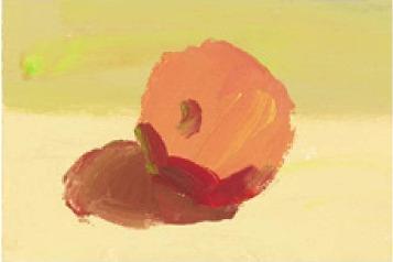 色彩红苹果的画法(2)