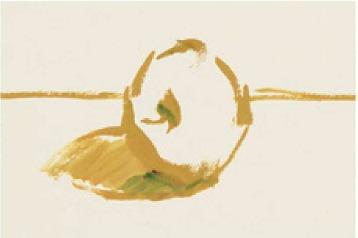 色彩红苹果的画法(1)