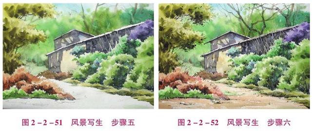 幼儿美术水彩画风景写生步骤(3)