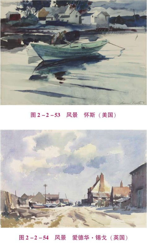 幼儿美术水彩画风景写生步骤(4)