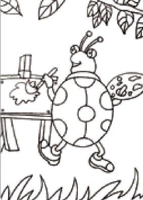 爱画画的七星瓢虫绘画步骤(1)