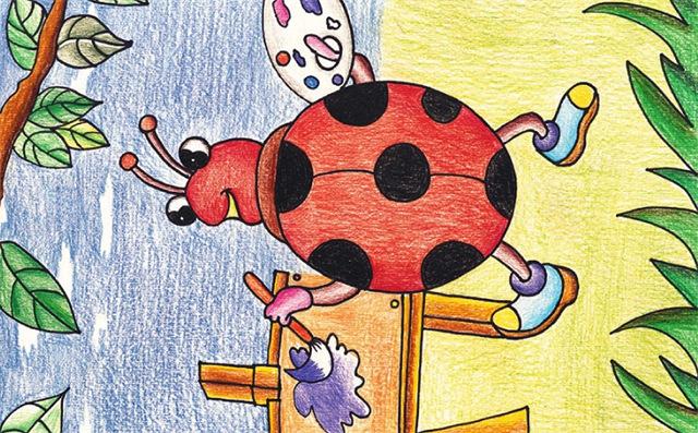 爱画画的七星瓢虫