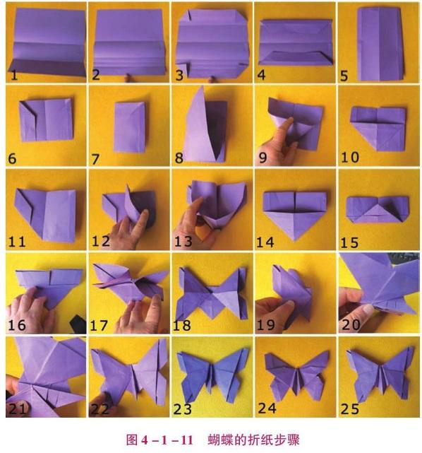蝴蝶的折纸步骤