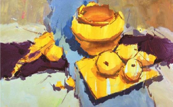 水果类色彩静物组合的画法(2)