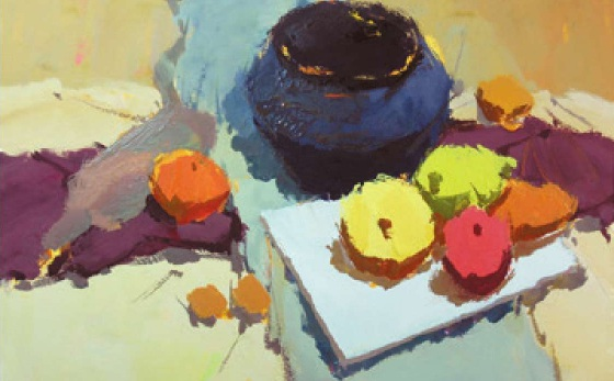 水果类色彩静物组合的画法(3)