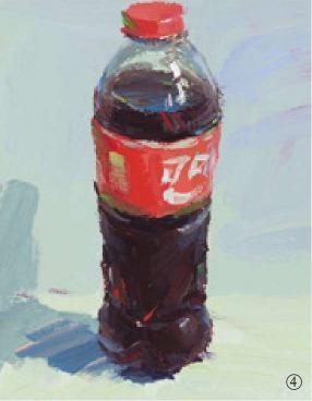 色彩可乐瓶的画法(4)