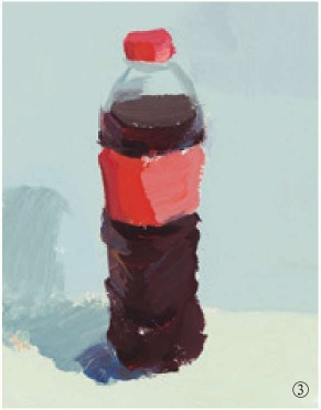 色彩可乐瓶的画法(3)