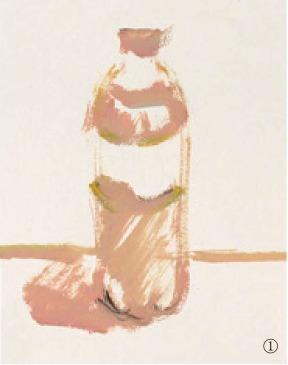 色彩可乐瓶的画法(1)
