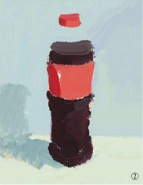 色彩可乐瓶的画法(2)