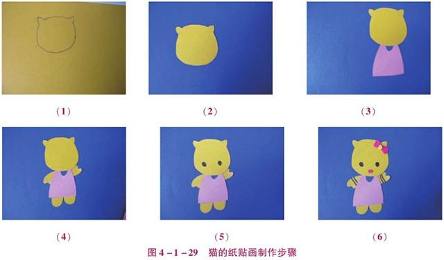 猫的纸贴画制作步骤