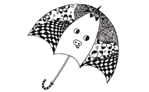 儿童装饰画:我设计的小花伞的画法(2)