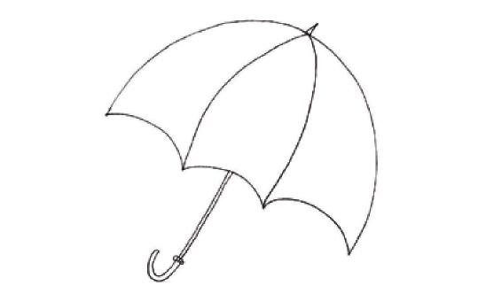 儿童装饰画:我设计的小花伞的画法(1)