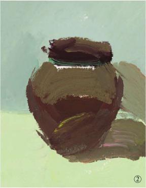 色彩宽口陶罐的画法(2)