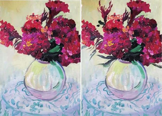 鸡冠花的画法(3)