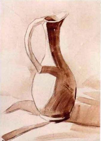 陶瓷类单体水粉静物作画步骤(3)