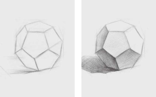 素描正五边形多面体的画法(1)