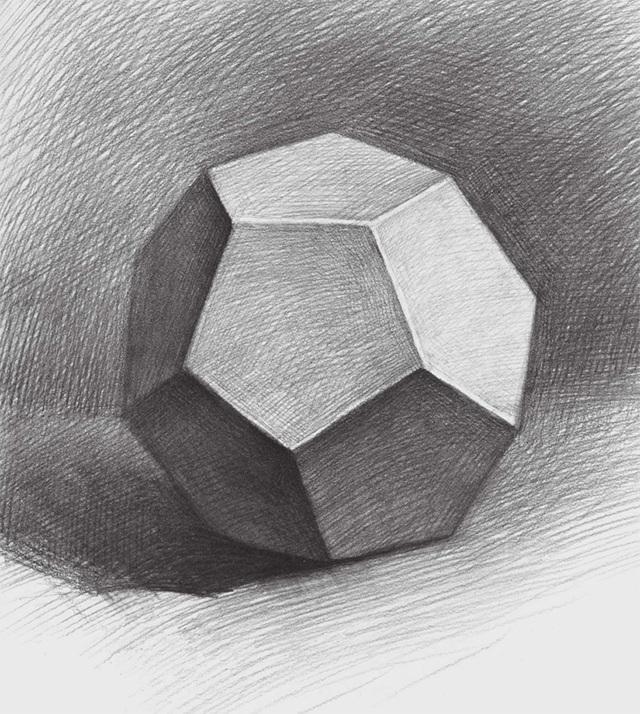 素描正五边形多面体的画法(3)